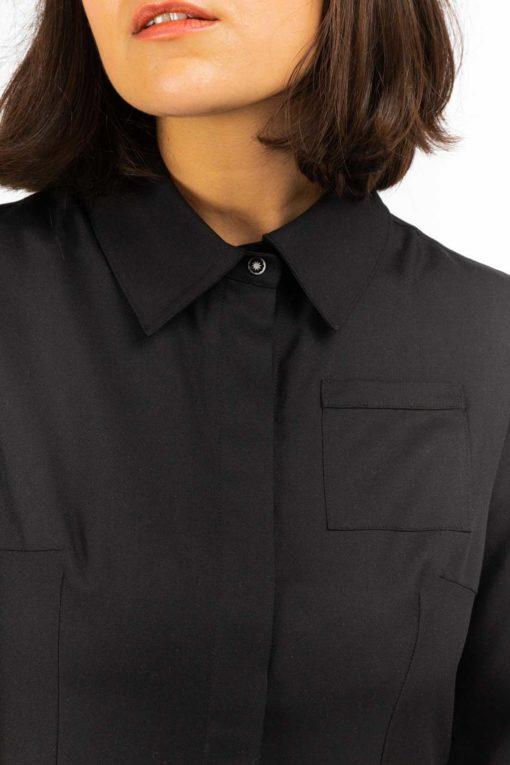 detail bouton gravé robe chemise yvette