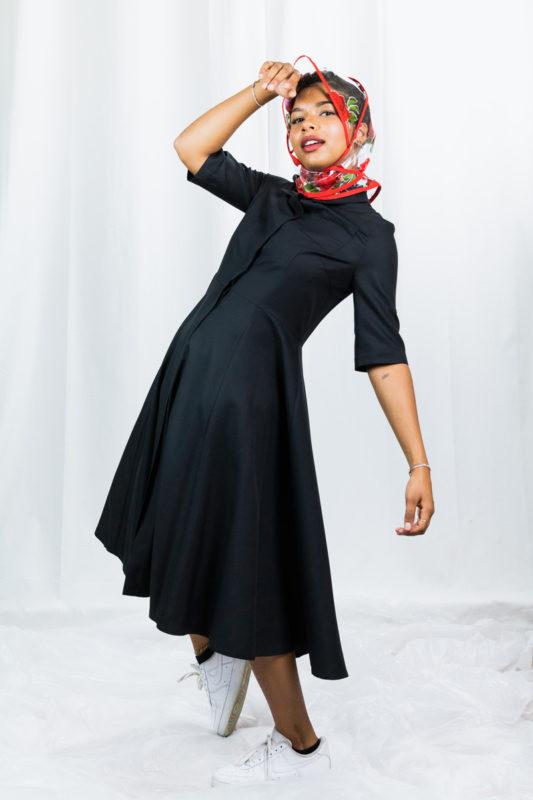 la robe-chemise Yvette upcyclée au look rétro