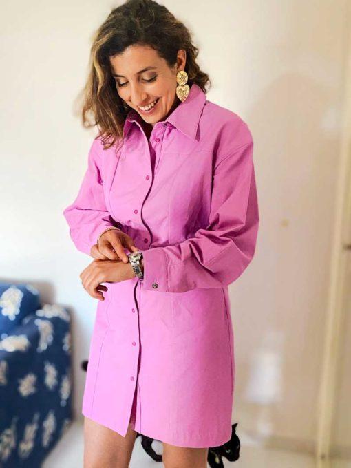 la robe-chemise rose & écoresponsable so yvette