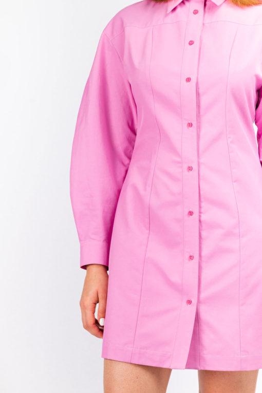 robe chemise tout coton manche bouffante ethique et chic