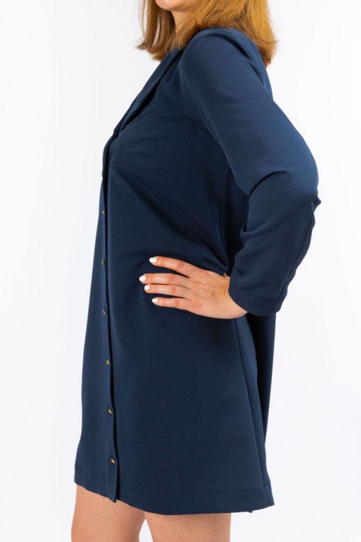 detail robe chemise blue so yvette