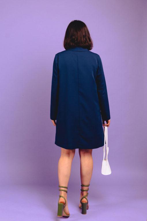 robe ethique blue diane de dos