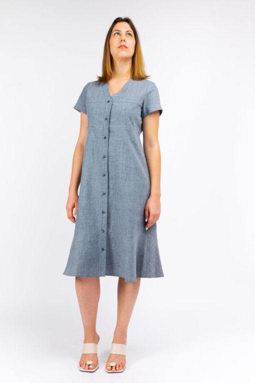 robe chemise ecoresponsable so yvette matiere naturel