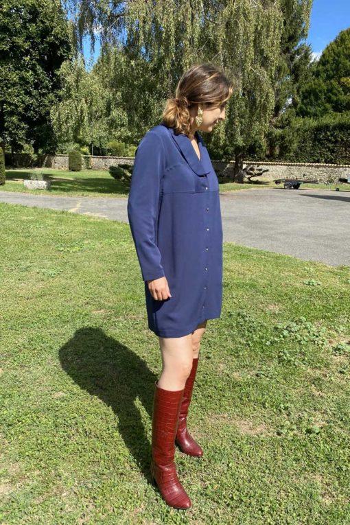 profil bleu diane robe chemise